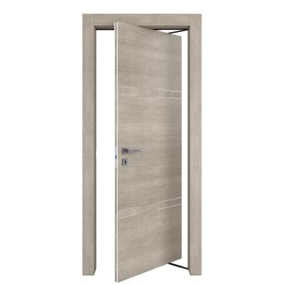 Porta da interno rototraslante Chasing rovere chiaro 70 x H 210 cm dx