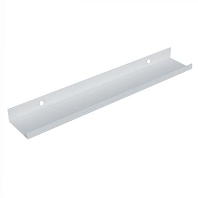 Mensola con spondina frontale bianco L 60 x P 10, sp 4 cm
