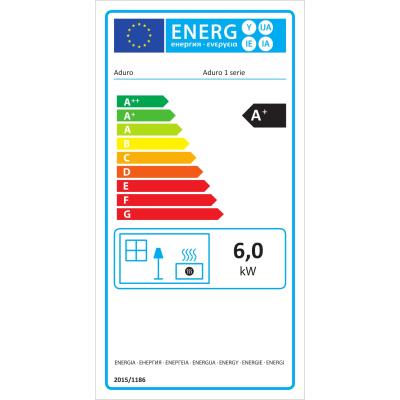 Stufa a legna Aduro 1.4 6 kW nero