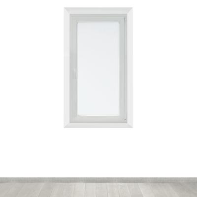 Tendina a vetro per finestra Leo bianco 45 x 120 cm