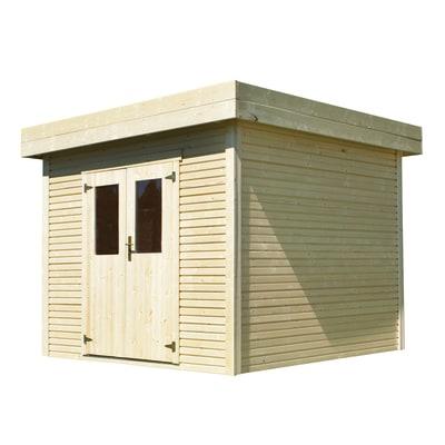 casetta in legno grezzo Helka 2 6,3 m², spessore 28 mm