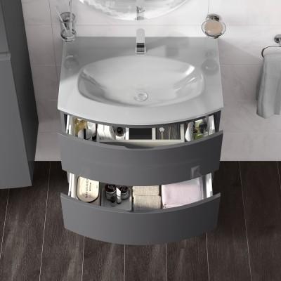 Mobile bagno Vague grigio antracite L 69 cm