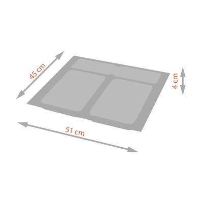 Vassoio per secchio X-plane600 30 L grigio