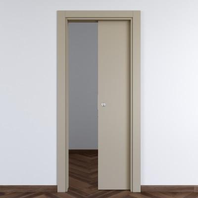 Porta da interno scorrevole Cinder grigio 80 x H 210 cm reversibile