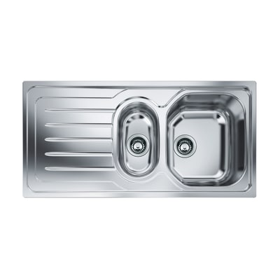 Lavello incasso Onda Line L 100 x P  50 cm 1 vasca 1/2 DX + gocciolatoio