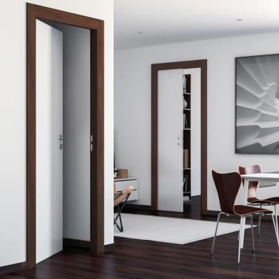 Porta da interno battente One bianca/brown 80 x H 210 cm reversibile
