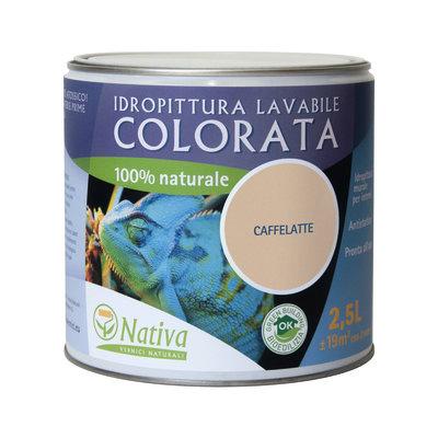 Idropittura lavabile Bio caffelatte 2,5 L Nativa