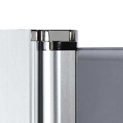 Doccia con porta battente e lato fisso Neo 87 - 89 x 77 - 79 cm, H 201,7 cm vetro temperato 6 mm trasparente/silver