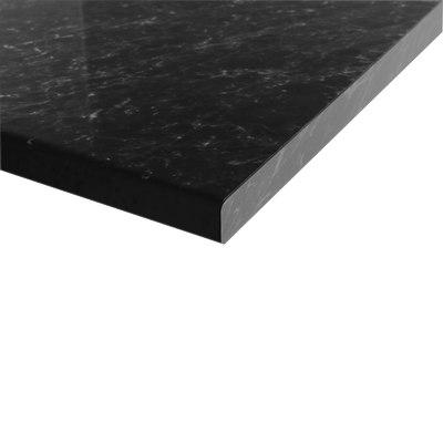Piano cucina su misura laminato Marmo nero 4 cm