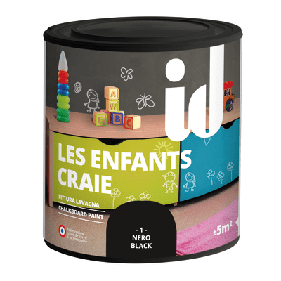 Pittura Effetto lavagna Les Décoratives nero 0.5 L