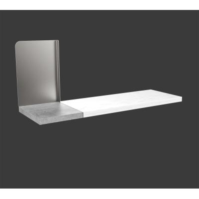 Mensola Pop bianco L 60 x P 25, sp 2,5 cm