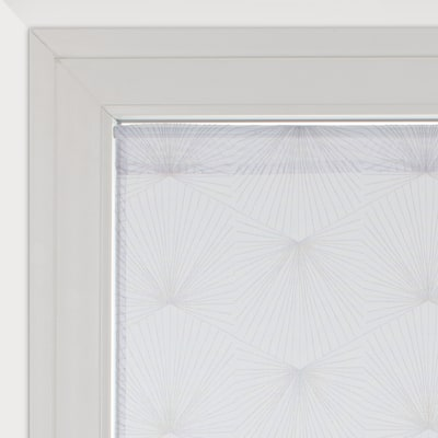 Tendina a vetro per finestra Kita bianco e grigio 45 x 120 cm