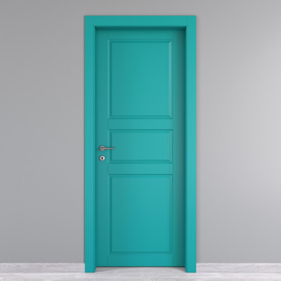 Porta da interno battente New York azzurro 90 x H 210 cm dx
