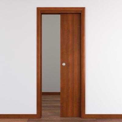Porta da interno scorrevole Mudek Noce nazionale 70 x H 210 cm reversibile