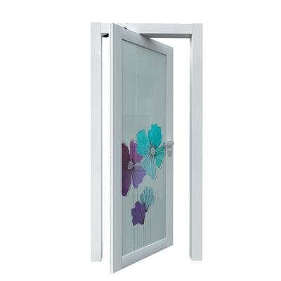 Porta da interno rototraslante Eden larice bianco 70 x H 210 cm sx