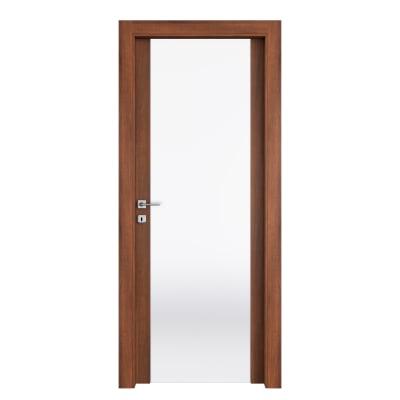 Porta da interno battente Alnitak noce nazionale 80 x H 210 cm dx