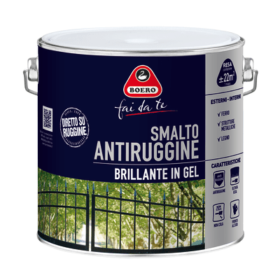 Smalto per ferro antiruggine Boero verde impero brillante 2 L