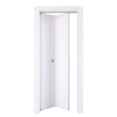 Porta da interno pieghevole Plaza frassino bianco 80 x H 210 cm sx