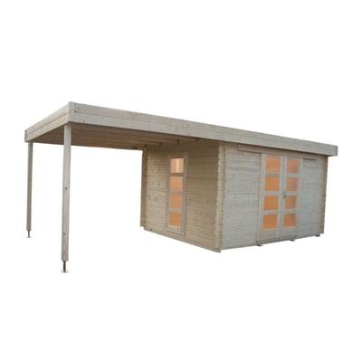 casetta in legno grezzo Hamburg 8,64 m², spessore 28 mm