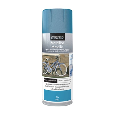 Smalto spray Rustolium blu metallizzato 400 ml