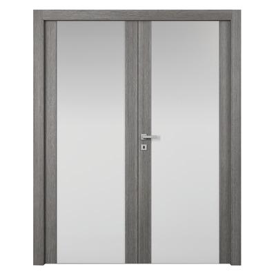 Porta da interno battente Starwood 2 Ante Pietra 160 x H 210 cm sx