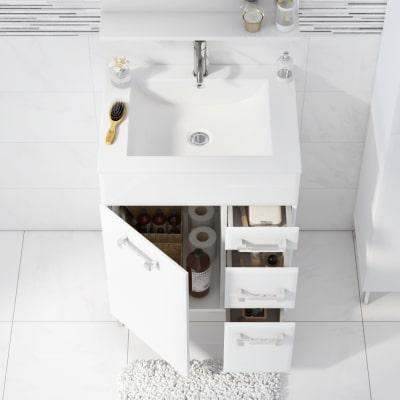 Mobile bagno Opale bianco L 60 cm