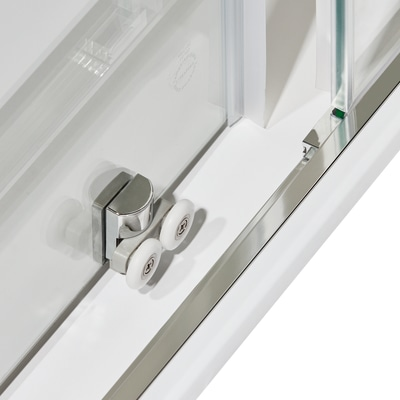 Box doccia scorrevole Dado 68-80 x 88-100, H 185 cm cristallo 5 mm stampato/silver