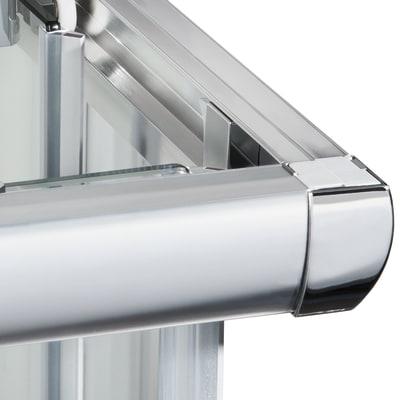 Box doccia scorrevole Quad 87.5-89 x 87,5-89, H 190 cm cristallo 6 mm trasparente/silver