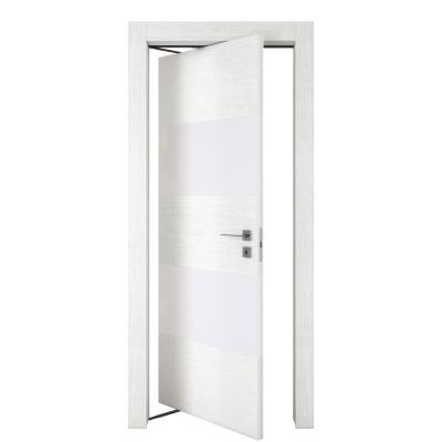 Porta da interno rototraslante Melangè bianco 80 x H 210 cm sx