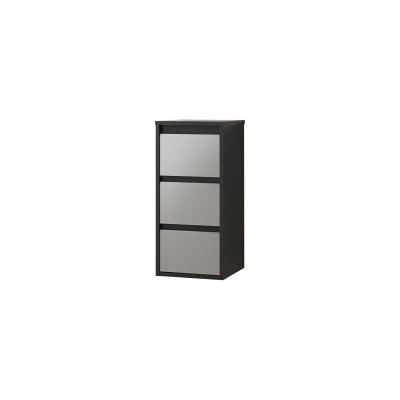 Semicolonna Loto grigio 3 cassetti L 35 x H 76 x P 35 cm