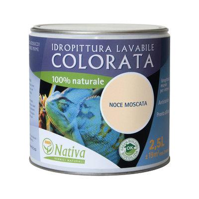 Idropittura lavabile Bio noce moscata 2,5 L Nativa