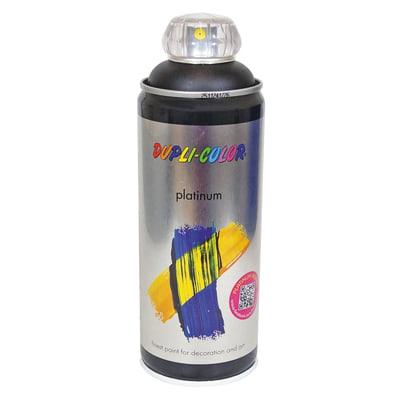 Smalto spray a solvente Platinum nero profondo RAL 9005 satinato 400 ml