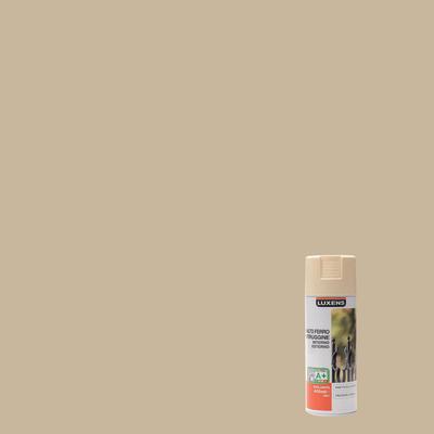 Smalto per ferro antiruggine spray Luxens avorio RAL 1015 brillante 0,4 L