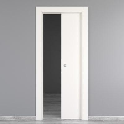 Porta da interno scorrevole Moma bianco 80 x H 210 cm reversibile