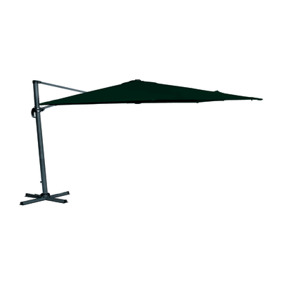 Ombrellone decentrato Hera 3 x 3 m verde