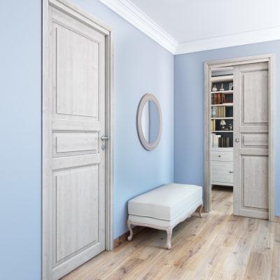 Porta da interno scorrevole Beethoven white 70 x H 210 cm reversibile