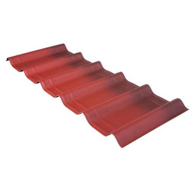 Tegola Onduvilla confezione 2.17 mq rosso in bitume 107 x 40  cm, spessore 3 mm