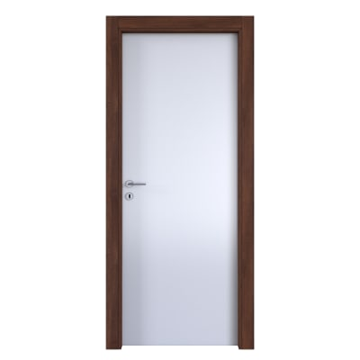 Porta da interno battente One bianca/brown 70 x H 210 cm reversibile