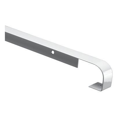 Profilo di giunzione metallo grigio spazzolato L 67 cm
