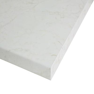 Piano cucina su misura laminato Marmo Onice bianco 4 cm