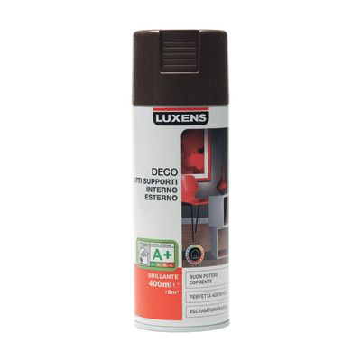 Smalto spray Deco Luxens Marrone Cioccolato 1 brillante 400 ml