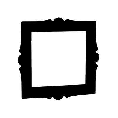 Cornice quadrata Spaceo nero L 30 x P 30, sp 1 cm