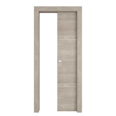 Porta da interno scorrevole Chasing rovere chiaro 80 x H 210 cm dx