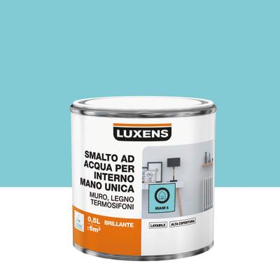 Smalto manounica Luxens all'acqua Blu Miami 5 brillante 0.5 L