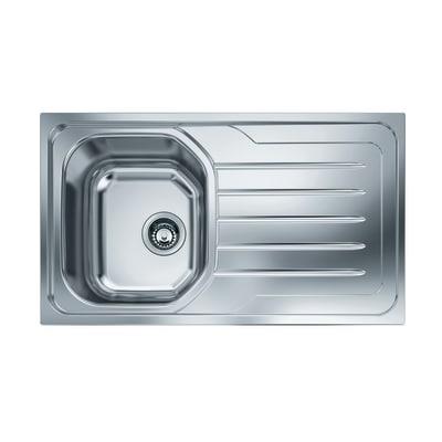 Lavello incasso Onda Line OLX 611 L 86 x P  50 cm 1 vasca SX + gocciolatoio