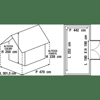 Garage in metallo Chicago, 14,2 m²