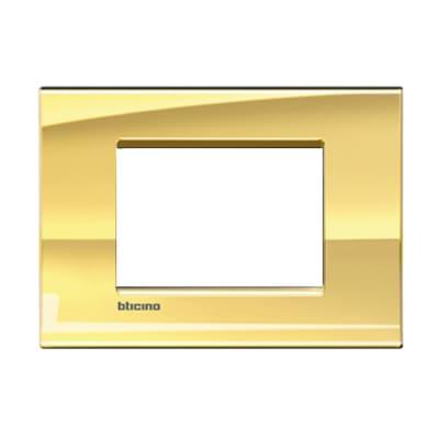 Placca 3 moduli BTicino Livinglight oro freddo