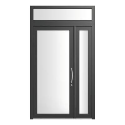 portoncino d'ingresso PVC Condo19 grigio L 132 x H 250 sx