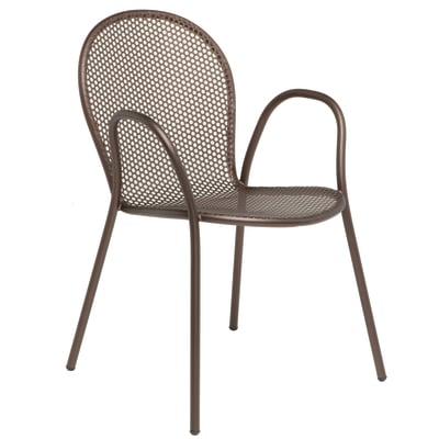 Sedia impilabile Pavesino marrone