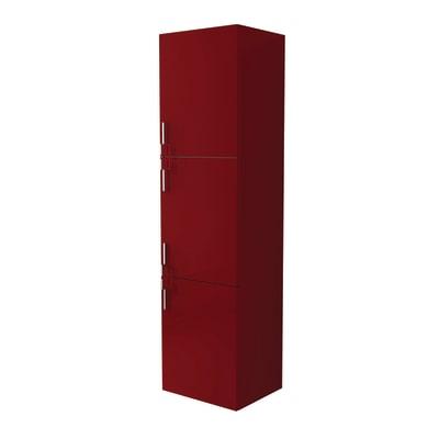 Colonna Sting rosso 3 ante L 45 x H 170 x P 38 cm